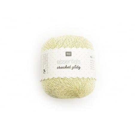 """Acheter Coton Crochet Glitz """"Essentials"""" doré - 3,60€ en ligne sur La Petite Epicerie - 100% Loisirs créatifs"""