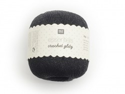 "Coton Crochet Glitz ""Essentials"" noir"