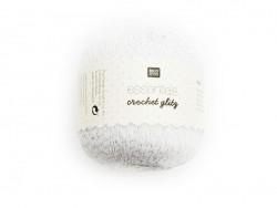 """Coton Crochet Glitz """"Essentials"""" argenté"""