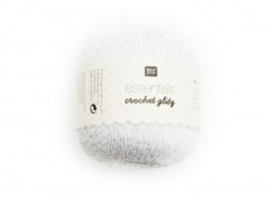 "Silberfarbenes Baumwollgarn ""Crochet Glitz - Essentials"""