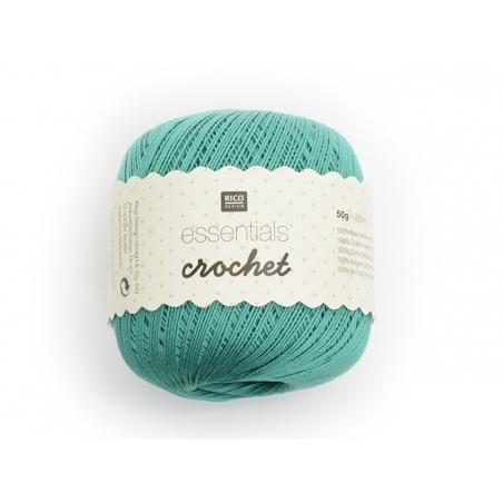 "Fils de Coton Crochet ""Essentials"" vert émeraude"