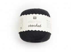 "Crochet cotton - ""Essentials - Crochet"" - black"