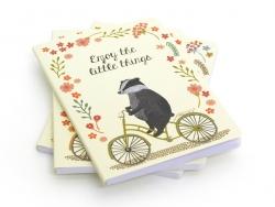 "Heft ""Happy animals on a bike"" - Dachs"