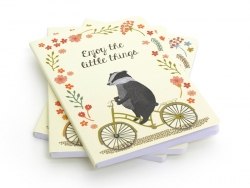 "Notebook ""Happy animals on bike"" - Badgers"