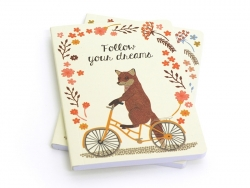 "Carnet ""Happy Animals on bike"" Renard"