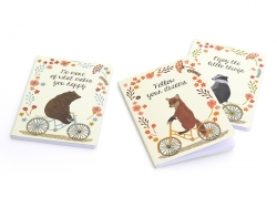 "Carnet ""Happy Animals on bike"" Ours"