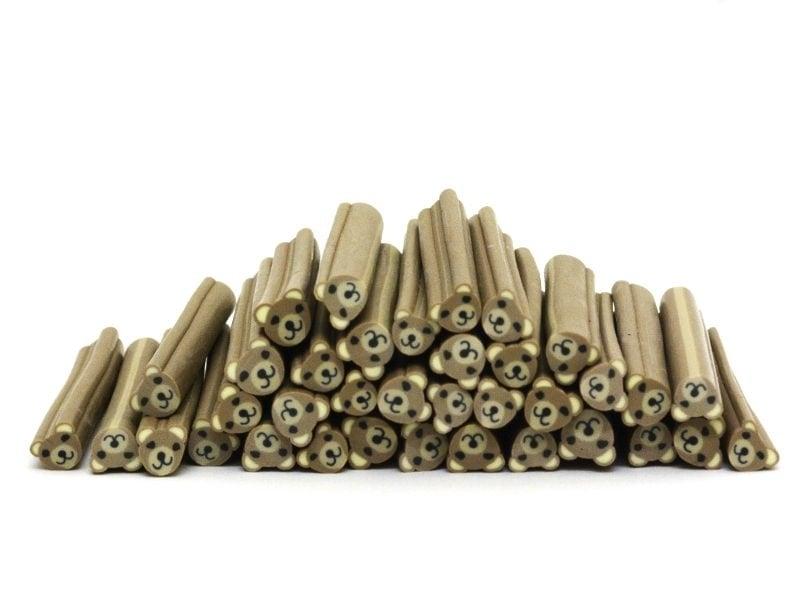 Acheter Cane ourson brun en pâte polymère - 0,99€ en ligne sur La Petite Epicerie - 100% Loisirs créatifs