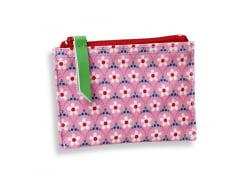 """Portemonnaie - """"Blumen auf rosafarbenem Hintergrund"""" - Fifi Mandirac"""