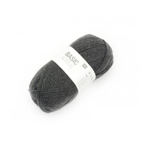 """Laine à tricoter """"Basic Acrylic"""" - gris foncé"""
