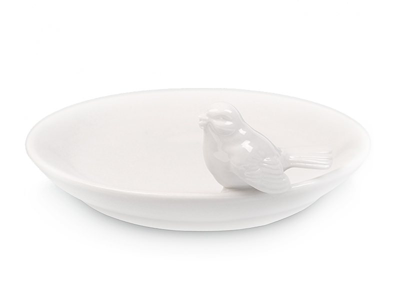 Jewellery bowl with a bird