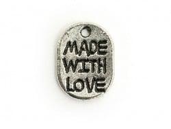 """Acheter 1 Breloque """"Made with love""""- argent foncé - 0,19€ en ligne sur La Petite Epicerie - 100% Loisirs créatifs"""