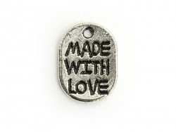 "1 ""Made with Love"" charm - dark silver-coloured"