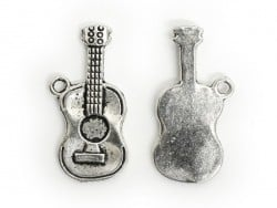 1 classic guitar charm - silver-coloured