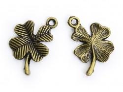 1 Breloque Trèfle à 4 feuilles - Bronze