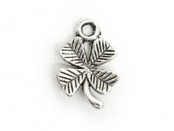 1 four-leaf clover charm - silver-coloured