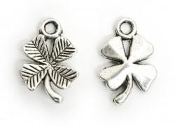 1 four-leaf clover charm - silver-coloured