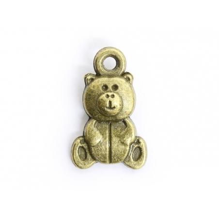 1 Breloque nounours - Bronze  - 1