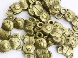 1 teddy bear charm - bronze-coloured