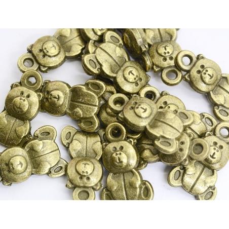 1 Breloque nounours - Bronze  - 2