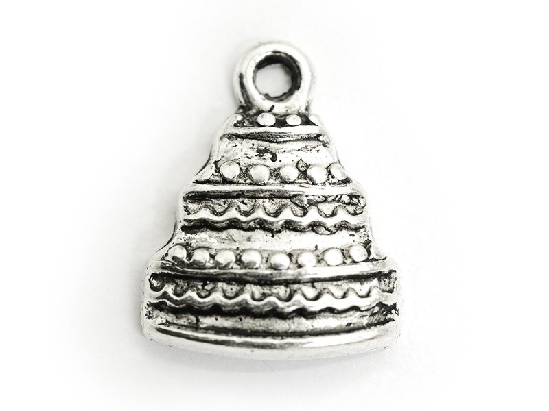 1 wedding cake charm, silver-coloured