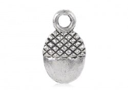 1 acorn charm - silver-coloured