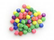 50 perles mates en acrylique - multicolore