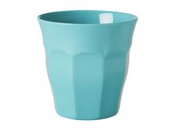 Verre / gobelet en mélamine - aqua - taille médium