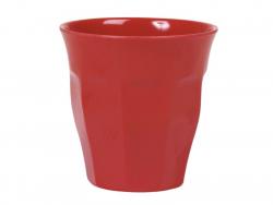 Verre / gobelet en mélamine - rouge - taille médium