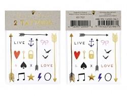 40 Tatouages graphiques - Love & Live Meri Meri - 1