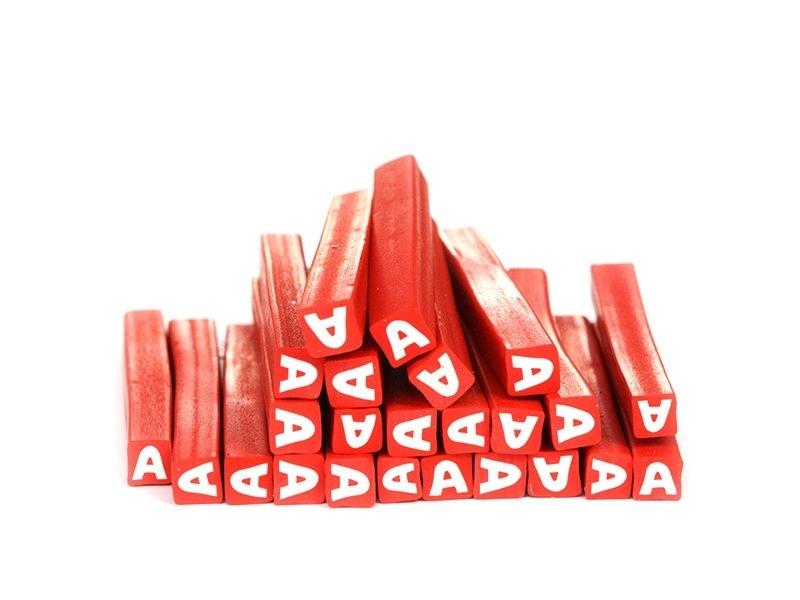Letter cane - A