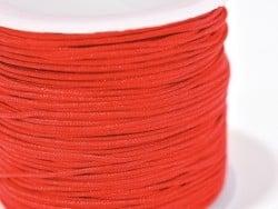 1 m de fil de jade / fil nylon tressé 1 mm - rouge  - 1