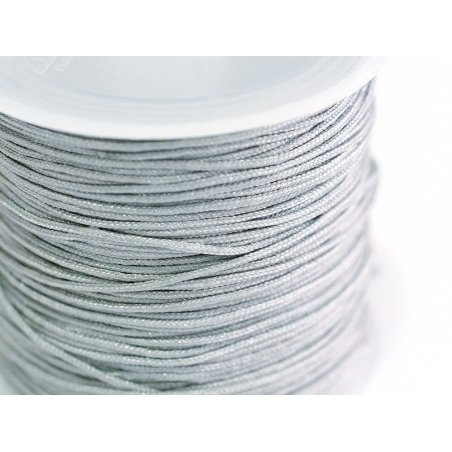 1 m of braided nylon cord, 1 mm - mouse grey