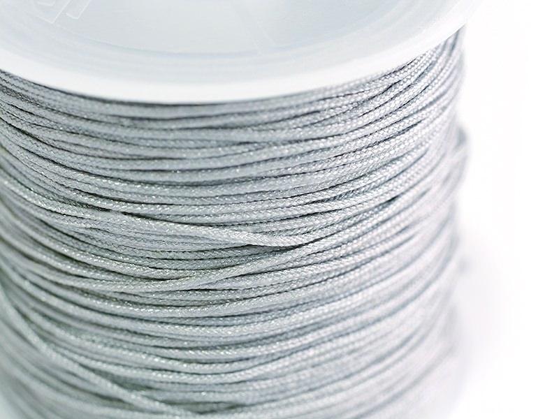 1 m de fil de jade / fil nylon tressé 1 mm - gris souris
