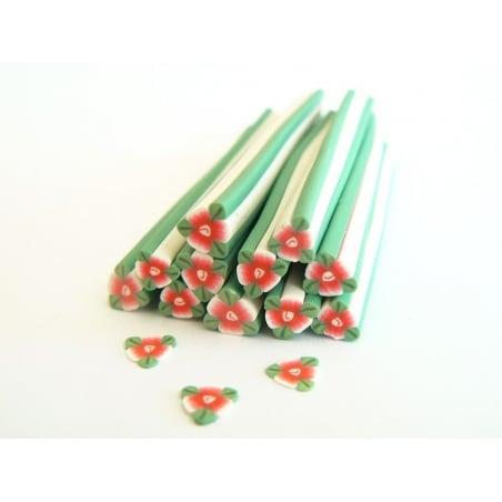 Acheter Cane fleur rouge de noel avec ses feuilles - 0,99€ en ligne sur La Petite Epicerie - 100% Loisirs créatifs
