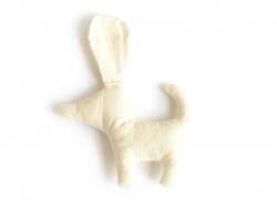 Stoffkuscheltier zur individuellen Gestaltung - Hund (12 cm x 10,5 cm x 2 cm)