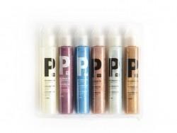 Set of 6 pearlmaker pens - glitter colours (30 ml)