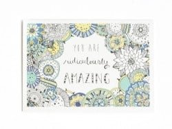 "1 carte + enveloppe  - ""You are ridiculously amazing"""