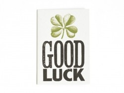 "1 card + envelope - ""Good luck"""