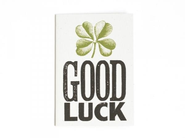 """1 carte + enveloppe  - """"Good luck"""""""