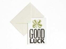 "1 carte + enveloppe  - ""Good luck"""