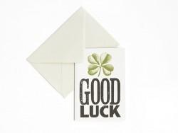"1 Karte + Umschlag - ""Good luck"""