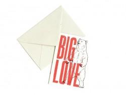 "1 Karte + Papierrumschlag - ""Big Love"""