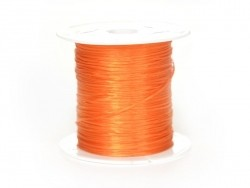12 m of shiny elastic cord - bright orange