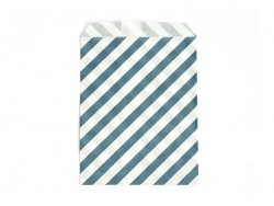1 gift bag - peacock blue stripes