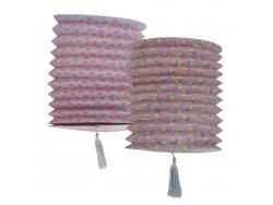 Grande lanterne en papier - motifs citrons