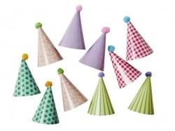 10 toppers pour cupcakes - chapeaux de fête