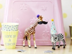 10 cupcake toppers - party hats