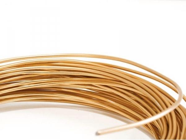 10 m of aluminium wire - copper-coloured