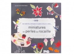 "Französisches Buch "" Miniatures en perles de rocailles - Amanda Brooke Maurice Hinson"""