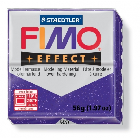 Acheter Pâte Fimo EFFECT Pailletée Lilas 602 - 1,99€ en ligne sur La Petite Epicerie - Loisirs créatifs